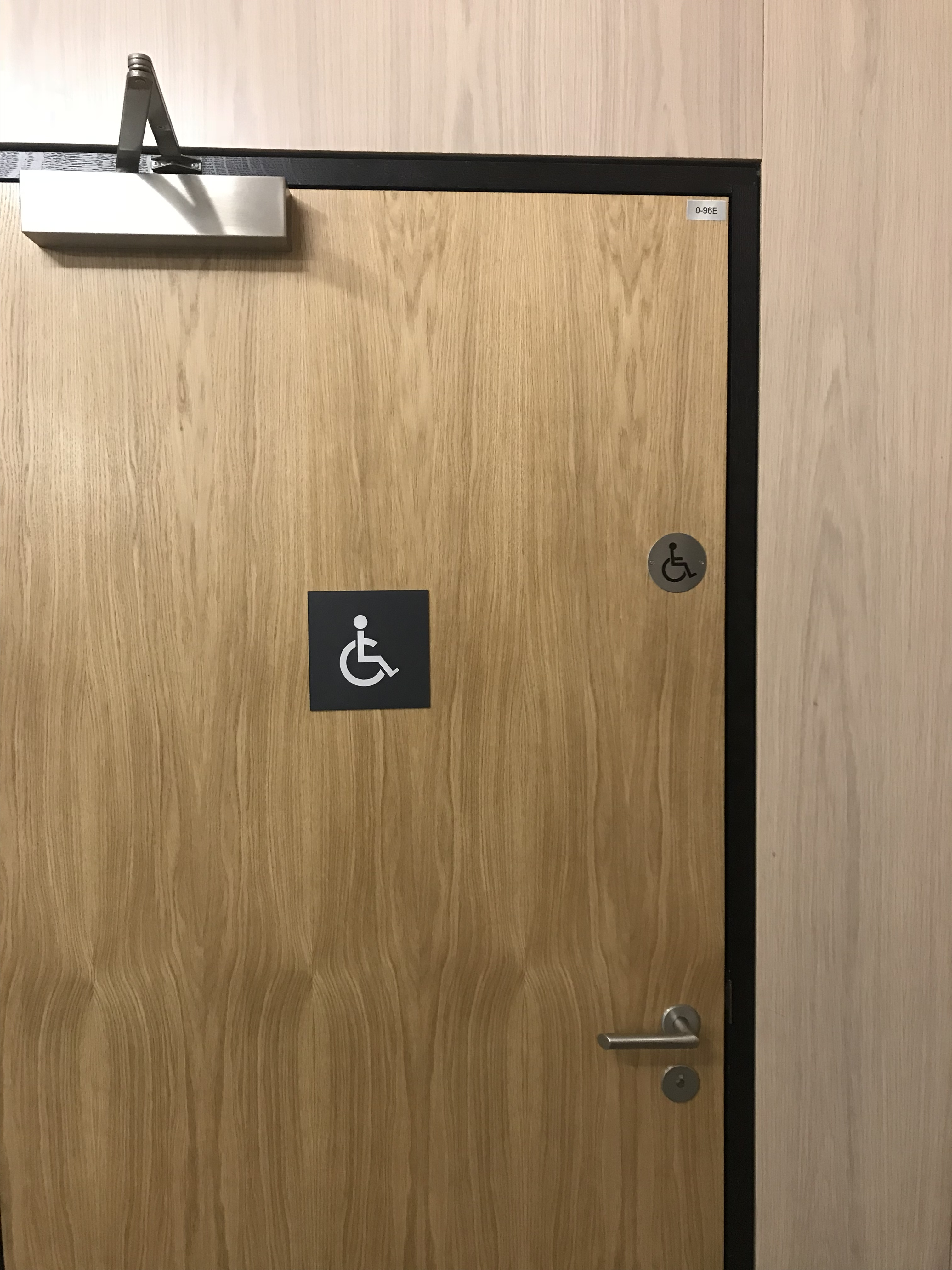 Image showing the disabled toilets and signage