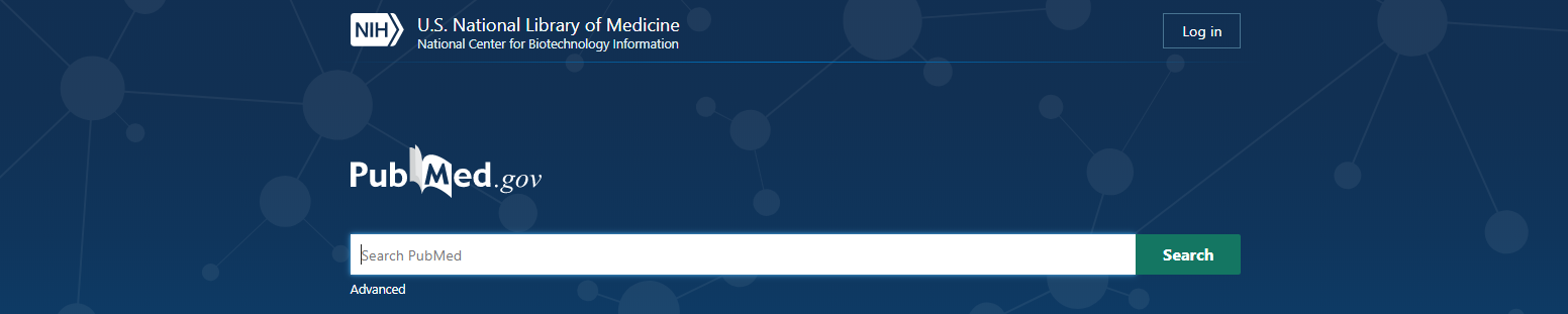 PubMed homepage