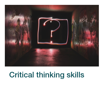 Critical Thinking Skills section in the interactive Skills4Study package