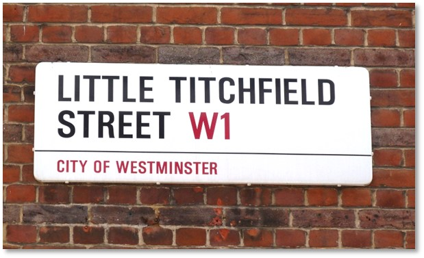 Image of street sign that says Little Titchfield Street W1