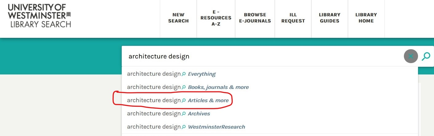 searching for articles