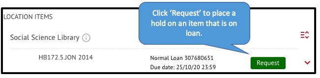 'Request' button in SOLO
