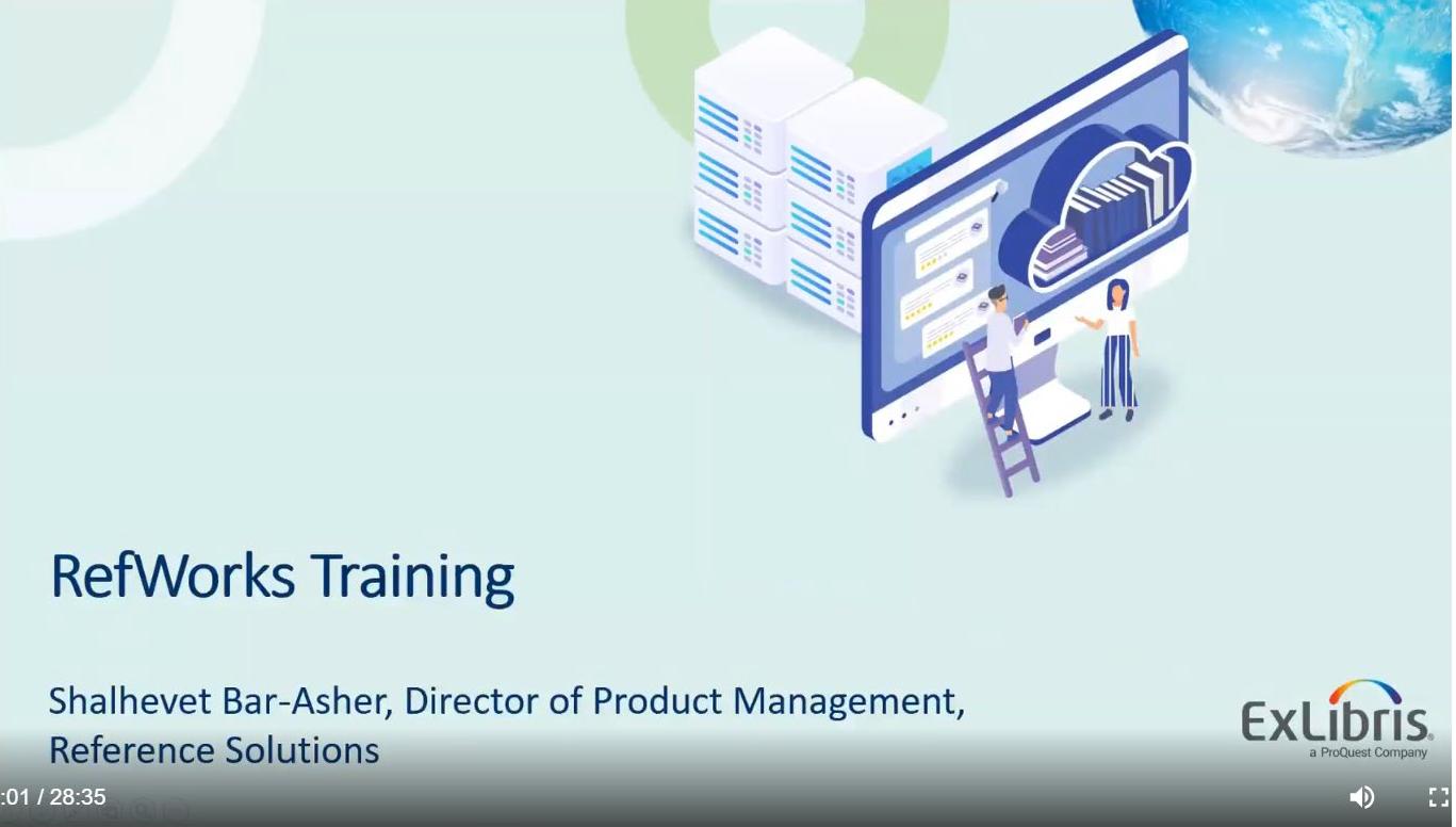 Refworks end-user training session