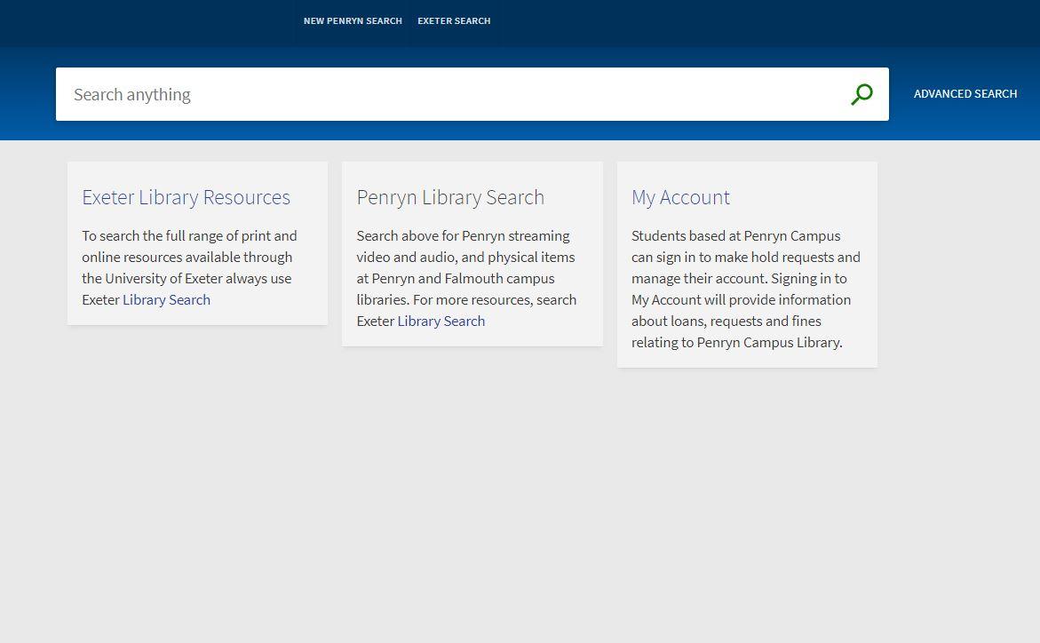 Penryn OPAC search