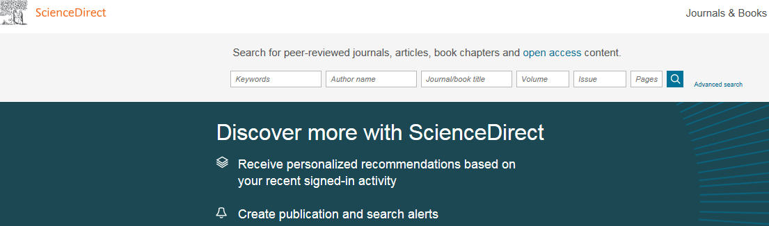 ScienceDirect search