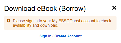 Sign in to your My EBSCOhost account