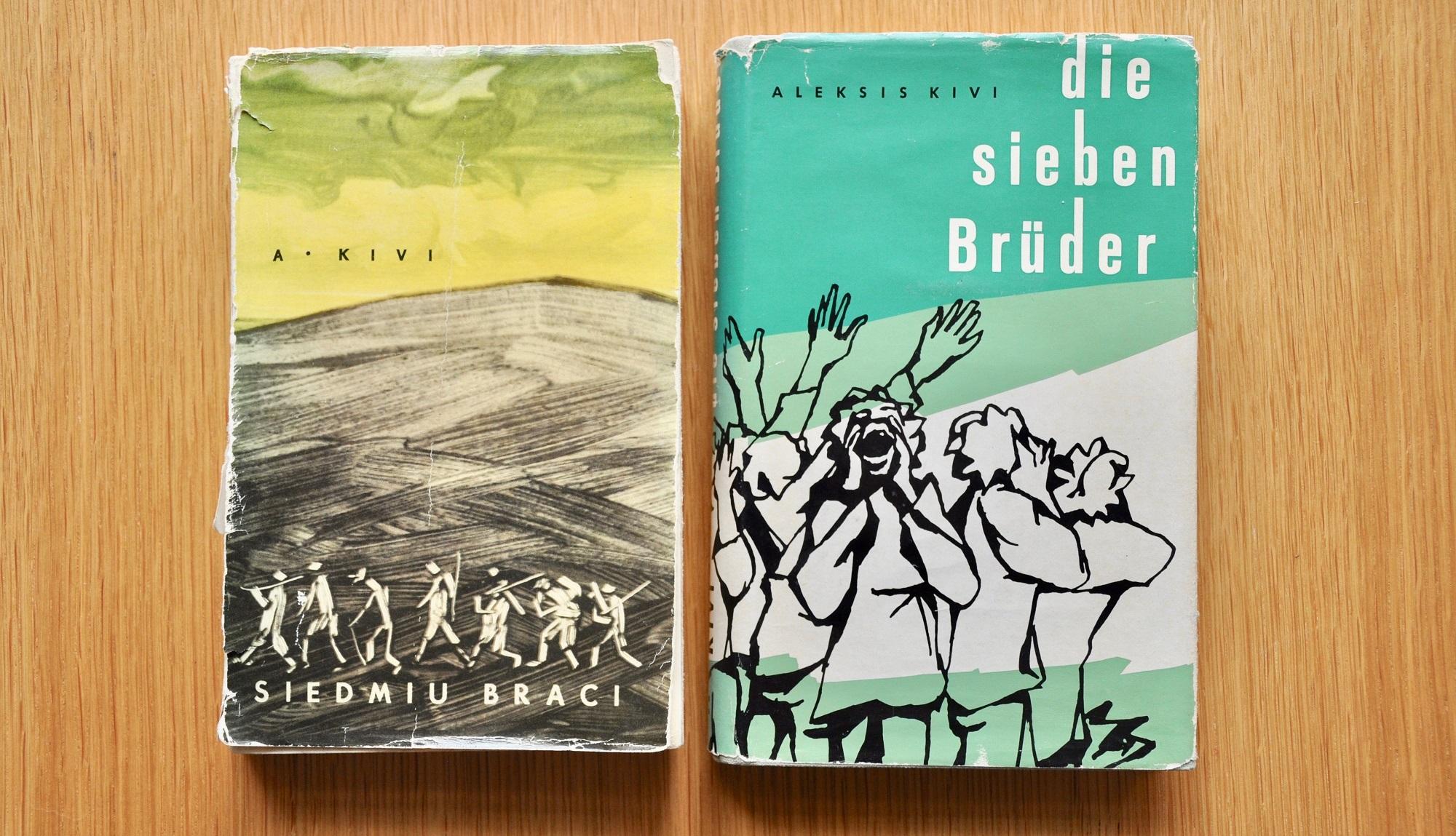 Puolan- ja saksankielisten käännösten kansikuvat