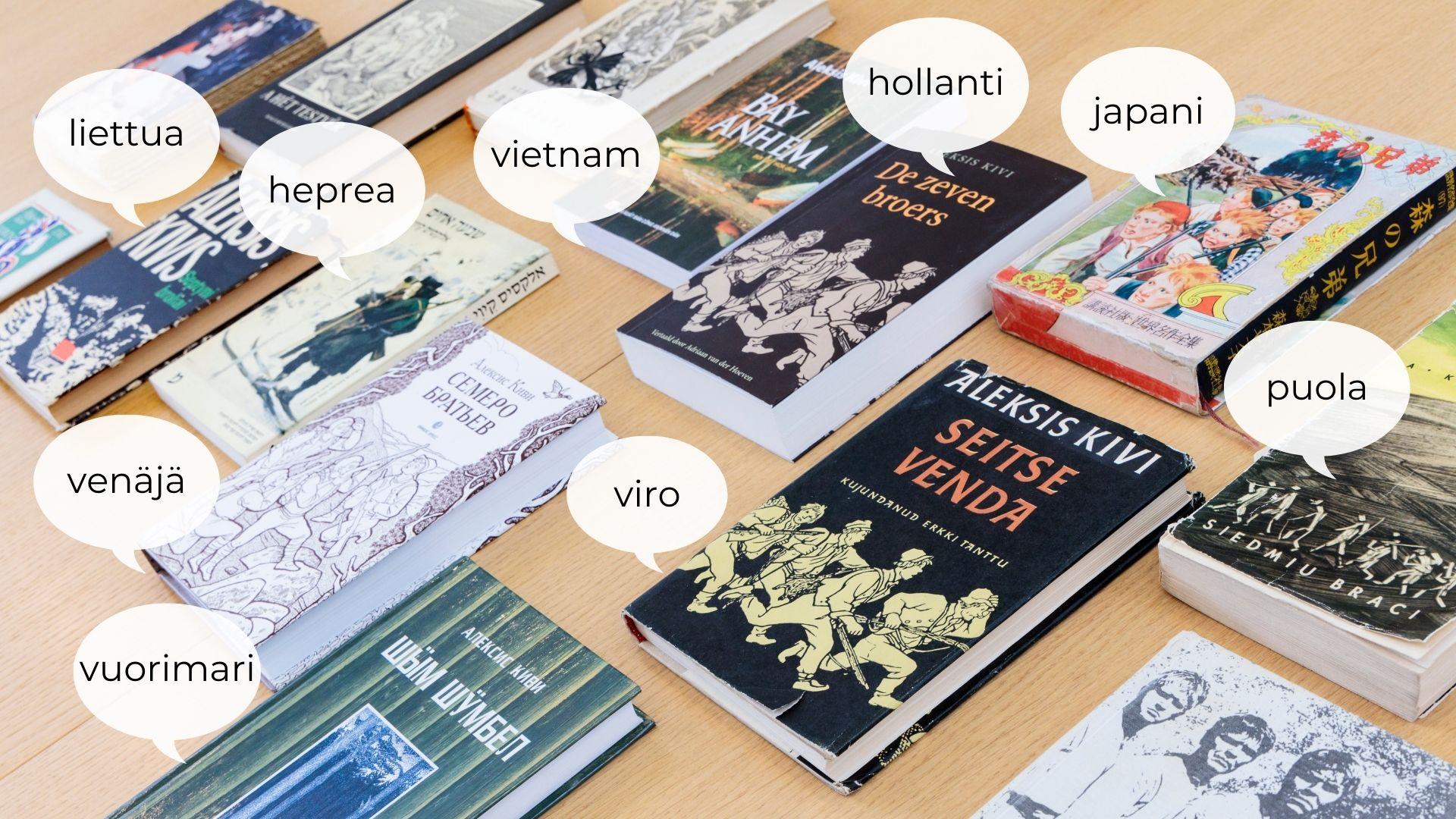 Seitsemän veljeksen käännöksiä eri kielille
