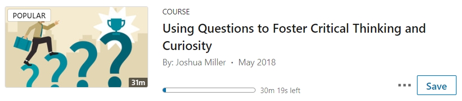 Using questions to foster critical thinking and curiosity