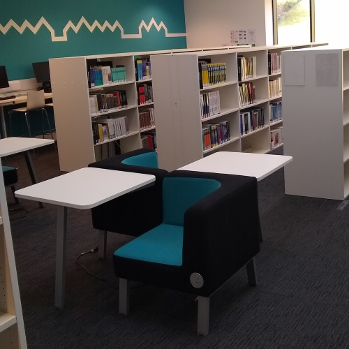 Photo of the new Library, empty and ready for users