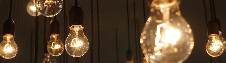 Decorative image showing lightbulbs
