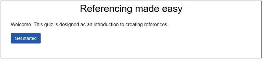 Link to referencing tutorial