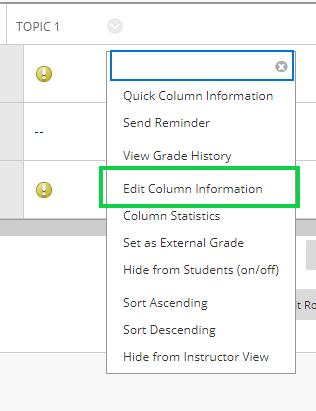 Screen-grab, changing column grading schema setting