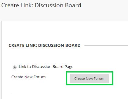 Screengrab - Create link discussion board