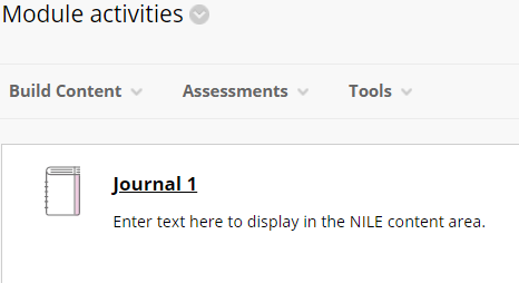 Screen-grab, journal in content area.