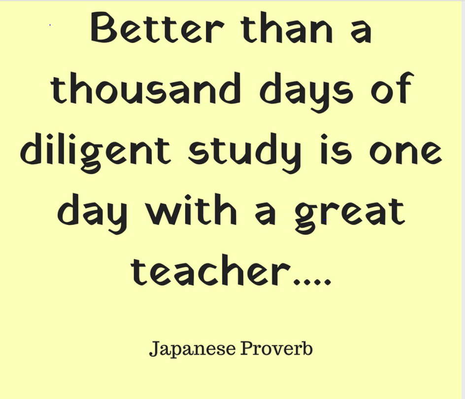 japanese proverb great teacher