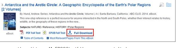 Screenshot of full download button