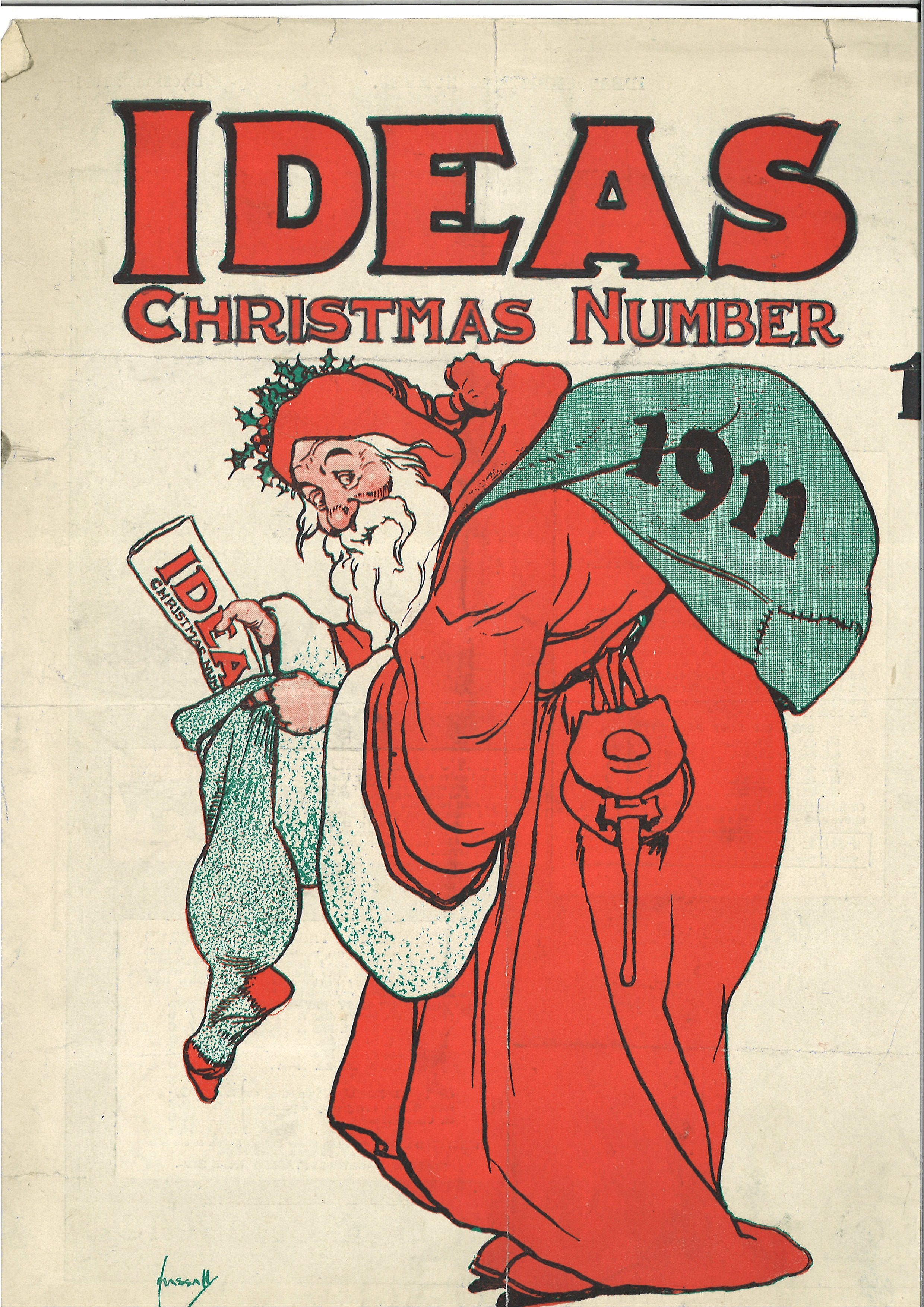 magazine cover with Father Christmas