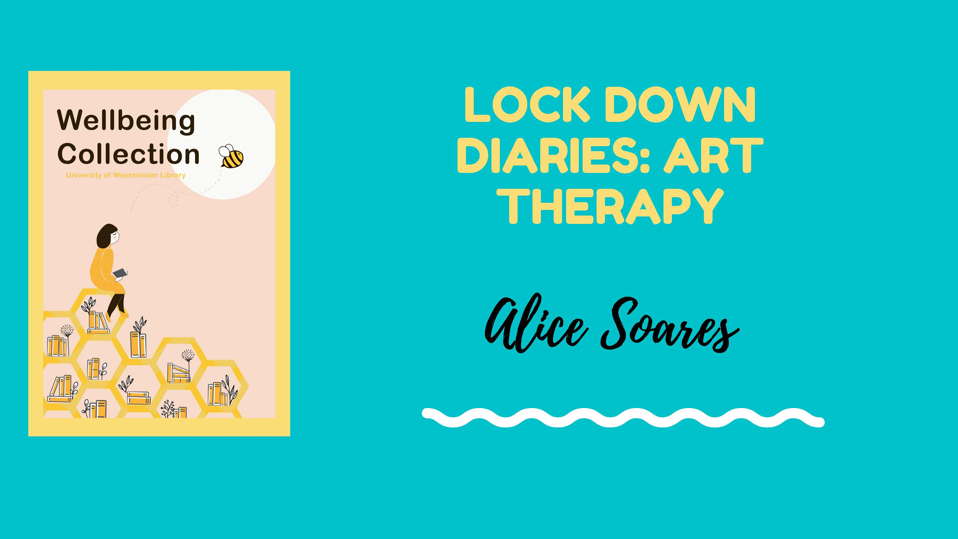 Lockdown Diary art therapy cover with Wellbeing logo