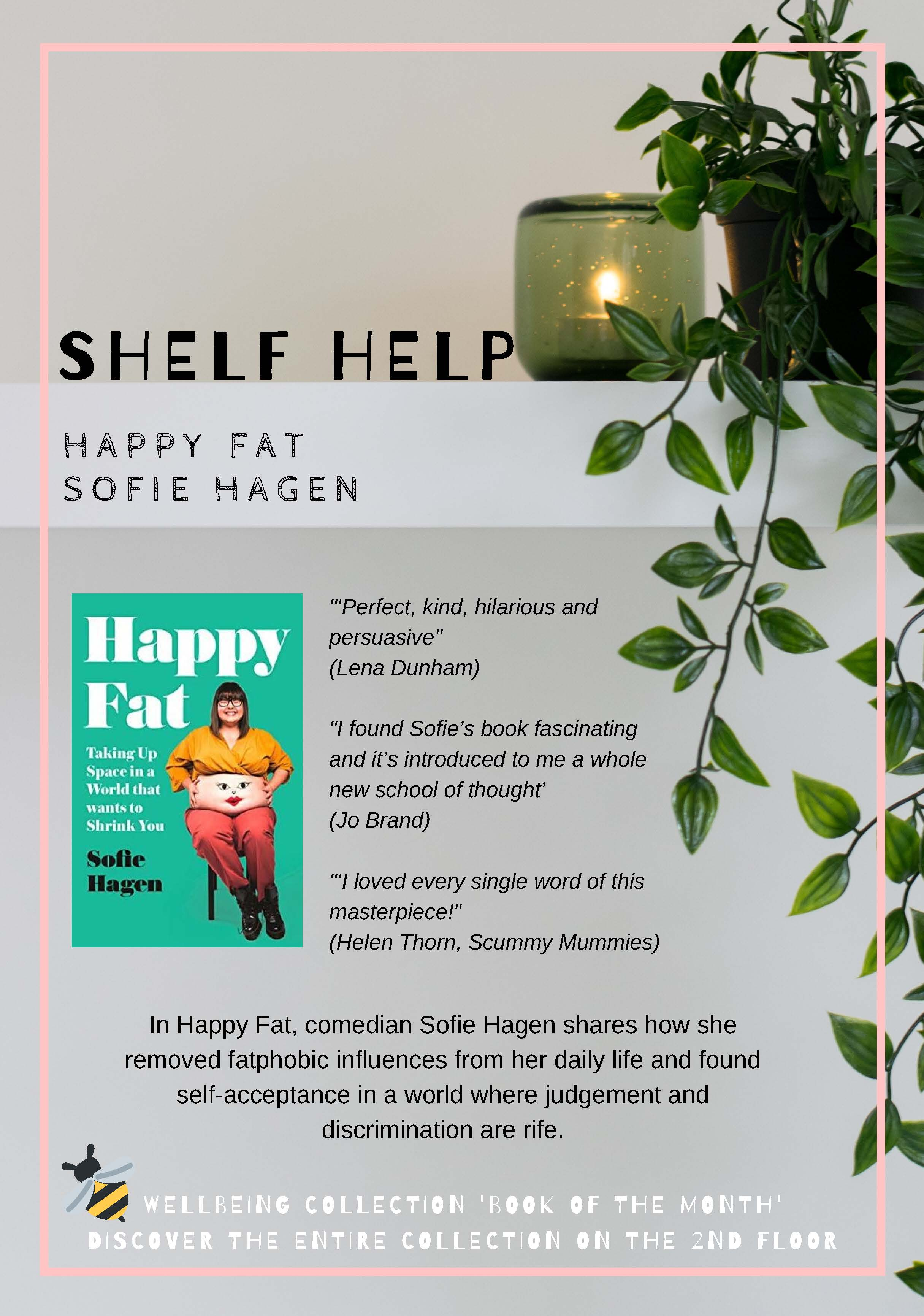 Review and photo of book Happy fat by Sophie Hagen