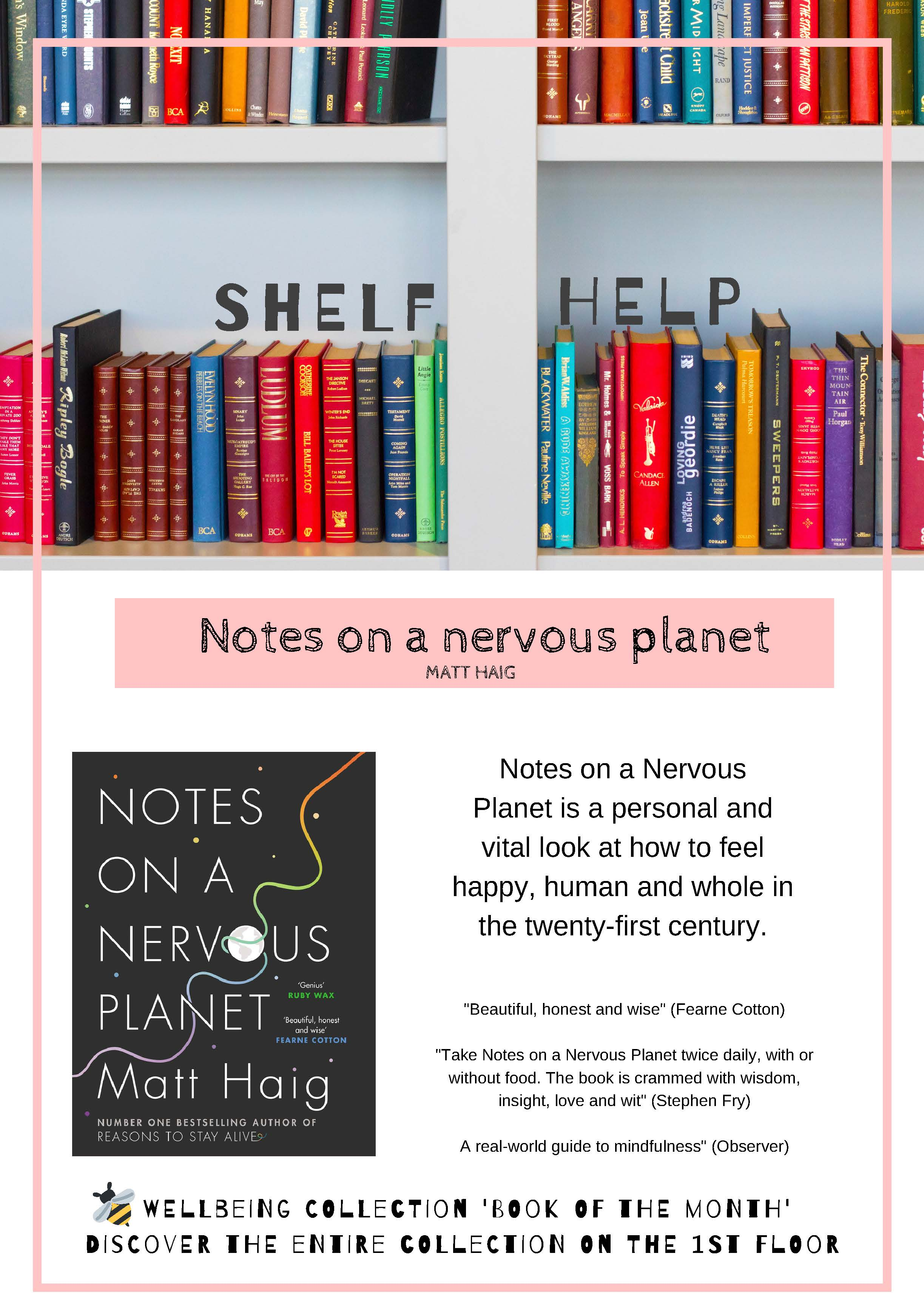 Review and photo of book  Notes on a Nervous planet by Matt Haig