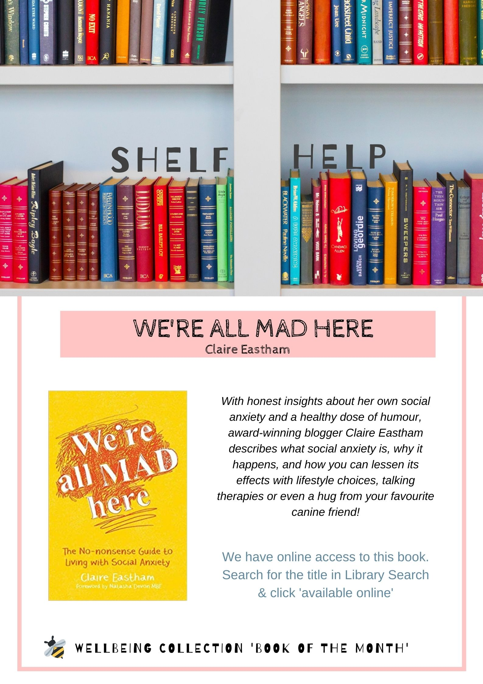 Review and photo of We're all mad here by Claire Eastham