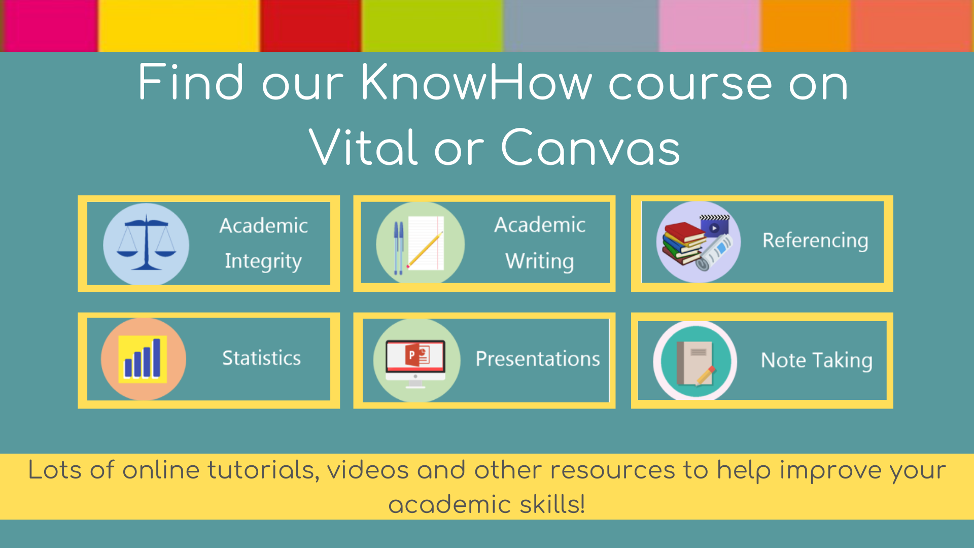 Find our KnowHow course on VITAL/Canvas