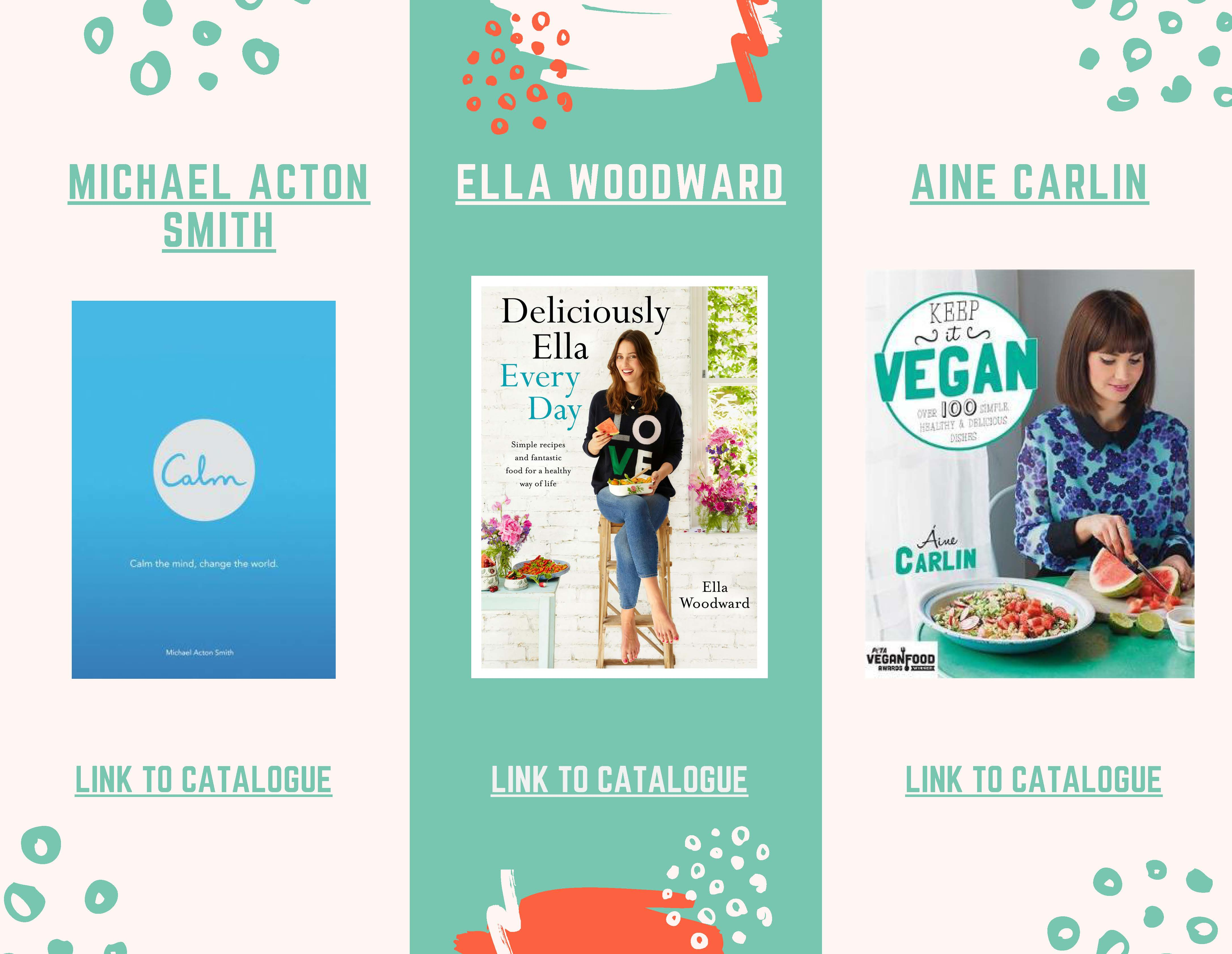 Michael Acton,Ella Woodward and Aime Carlin book covers