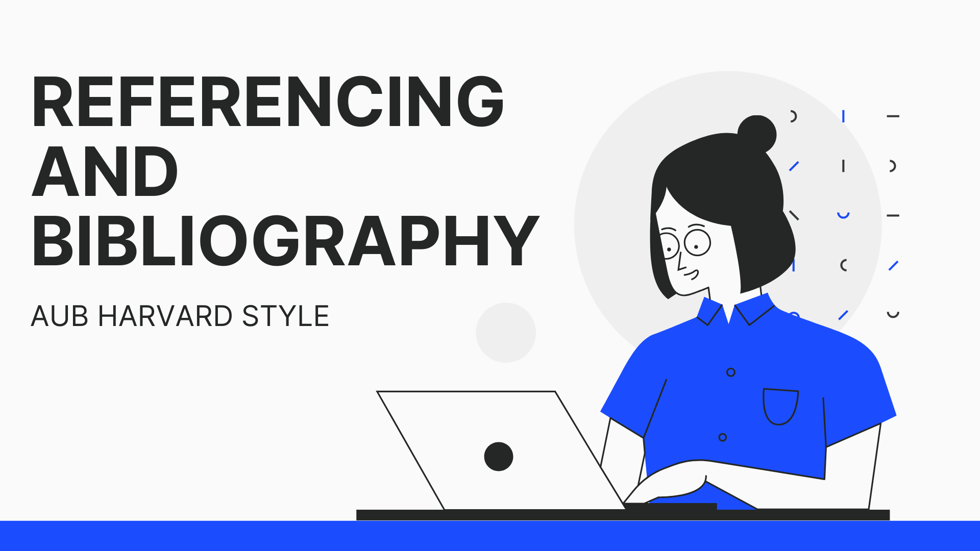 Referencing & Bibliography tutorial