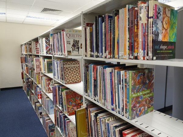 Quilters Guild books in their new location