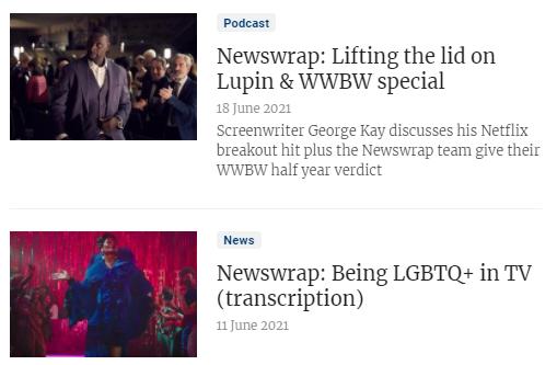 Broadcast Newswrap podcasts