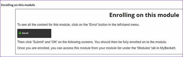 Academic Integrity tutorial enrol button