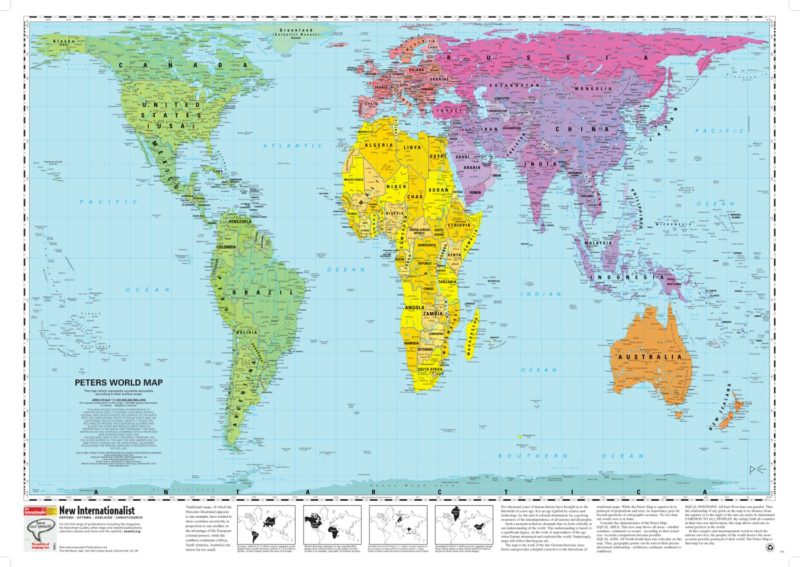 World Map Peters Projection