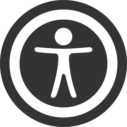 Accessibility icon showing human figure with arms outstretched inside a circle