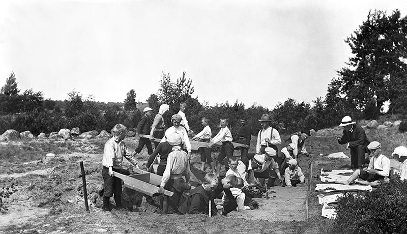 Undersökning av stenåldersboplats i Siretorp, utförd 1912 av Knut Kjellmark