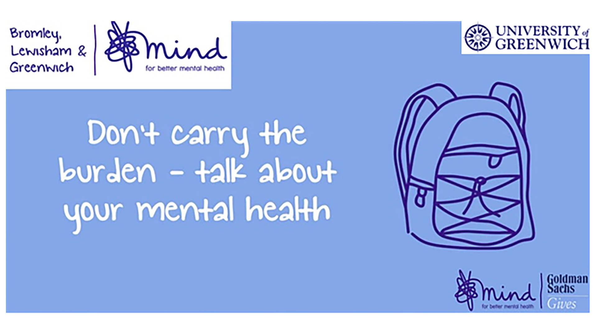 Don't carry the burden - talk about your mental health