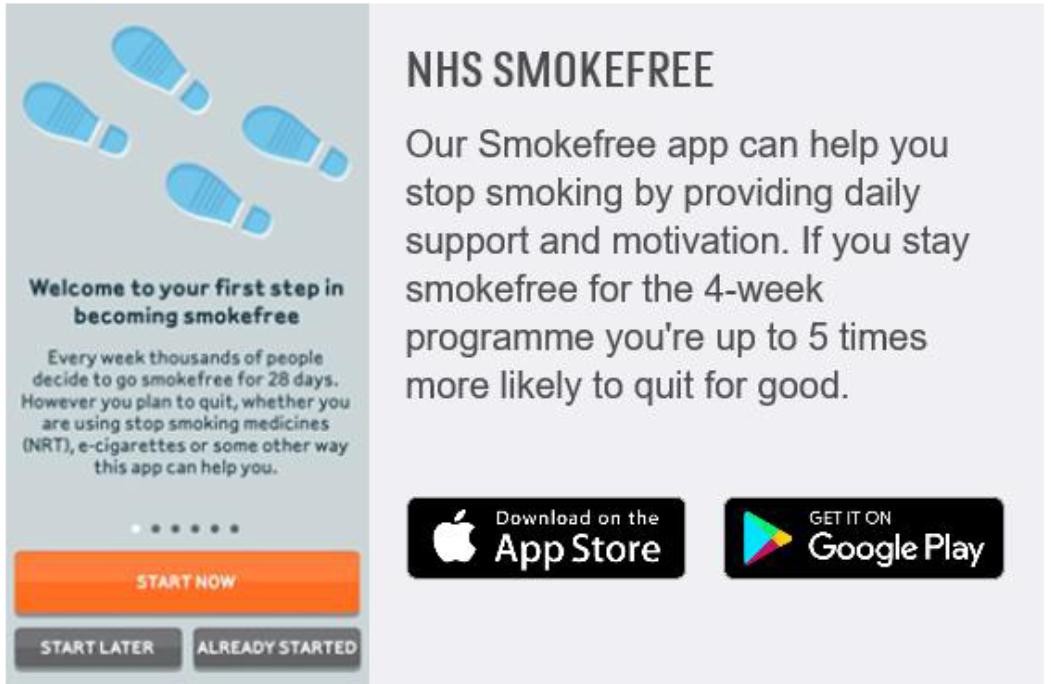 NHS Smokefree app