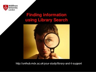 Managing Library search slide