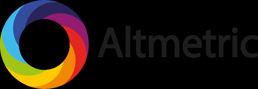 Altmetric logo with black text.