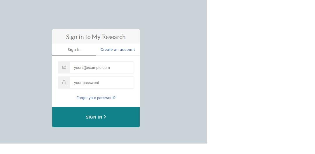 Pantalla para introducir las credenciales de ProQuest