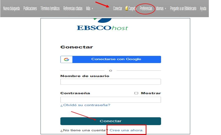 Pantalla de acceso y registro al perfil de usuario