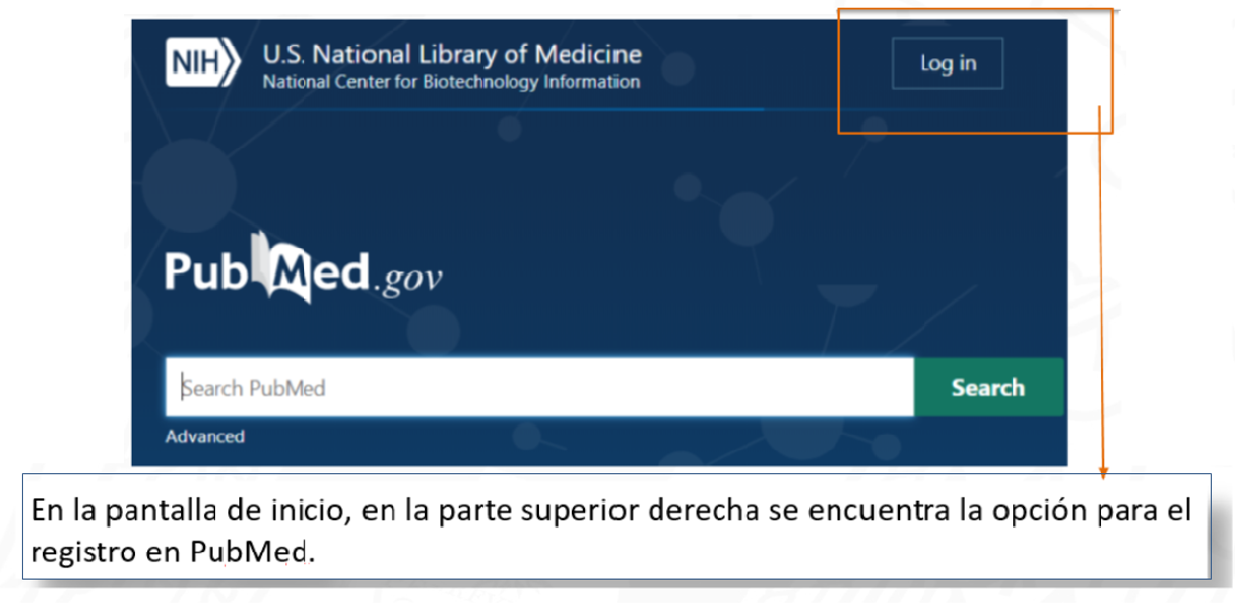 PubMed My NCBI registro 1