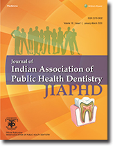 Journal of Indian Association of Public Health Dentistry