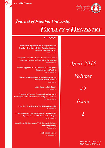 Journal of Istanbul University Faculty of Dentistr