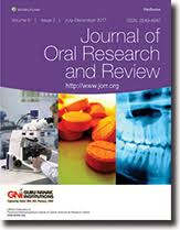 Journal of oral research and review