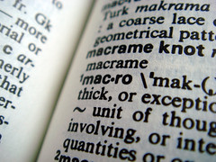 Page from a dictionary