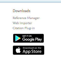 downloads links for web importer and citation plugin