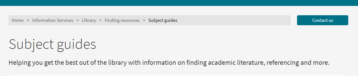 Subject Guides image