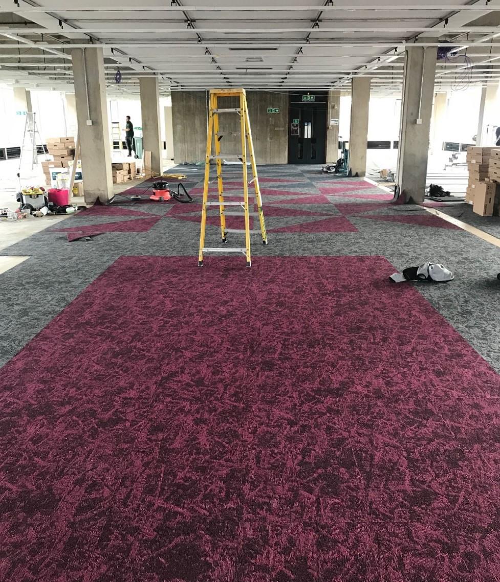 New carpets progress photo