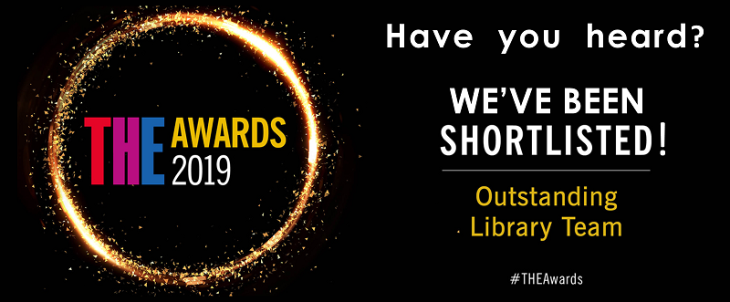THE Awards 2019 - We've been shortlisted for Outstanding Library Team